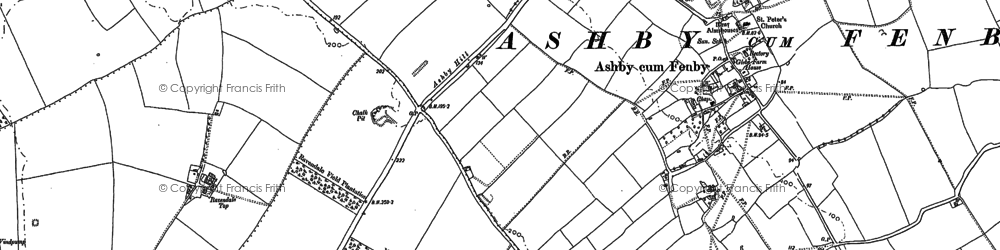 Old map of Ashby Hill in 1887