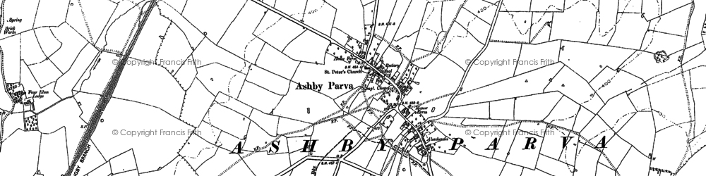 Old map of Ashby Parva in 1898