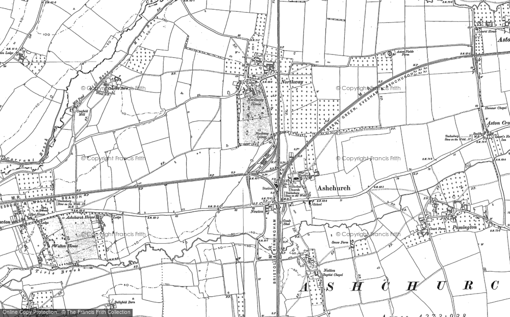 Old Map of Ashchurch, 1900 - 1901 in 1900