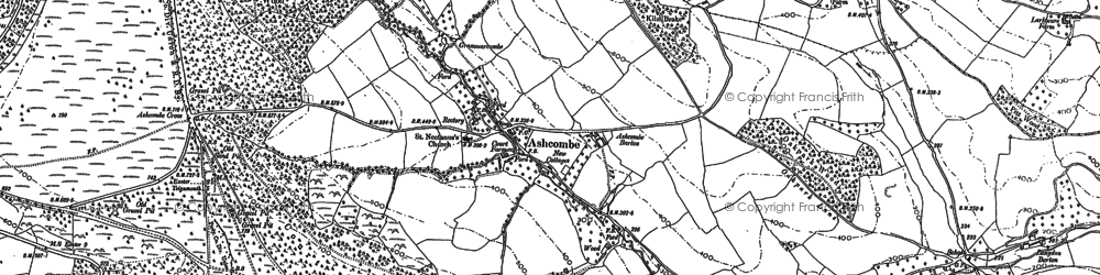 Old map of Ashcombe in 1904
