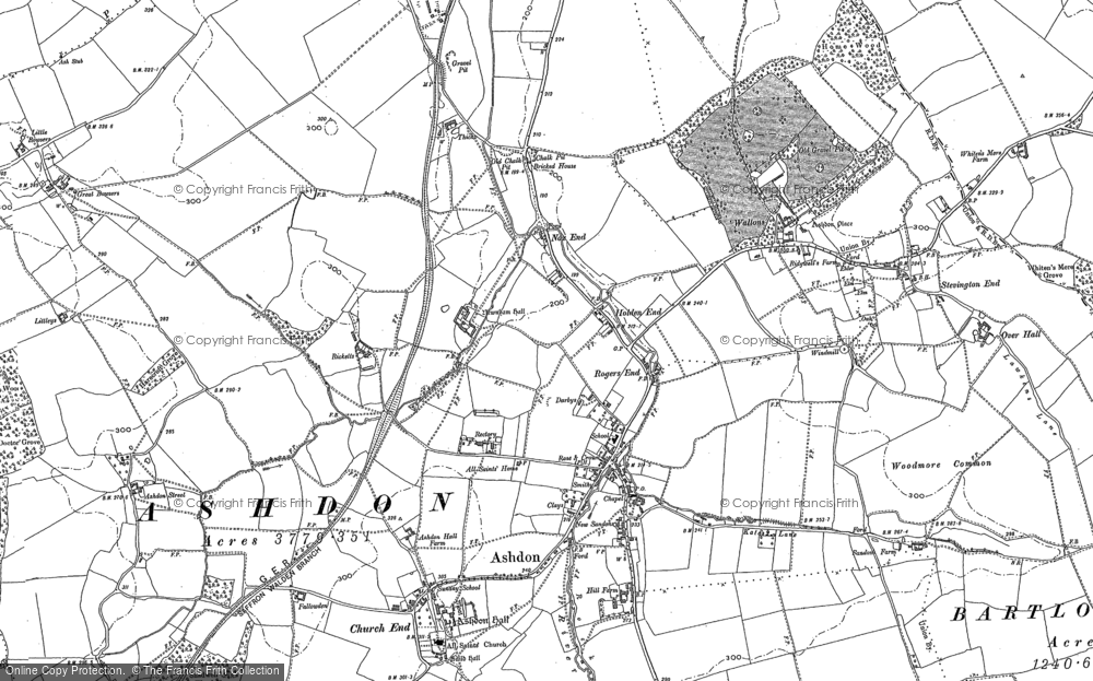 Old Map of Ashdon, 1901 in 1901