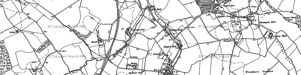 Old map of Ashdon in 1901