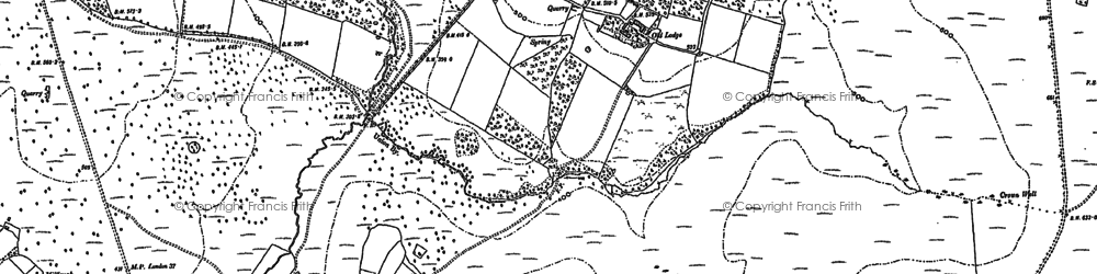 Old map of Ashdown Forest in 1897