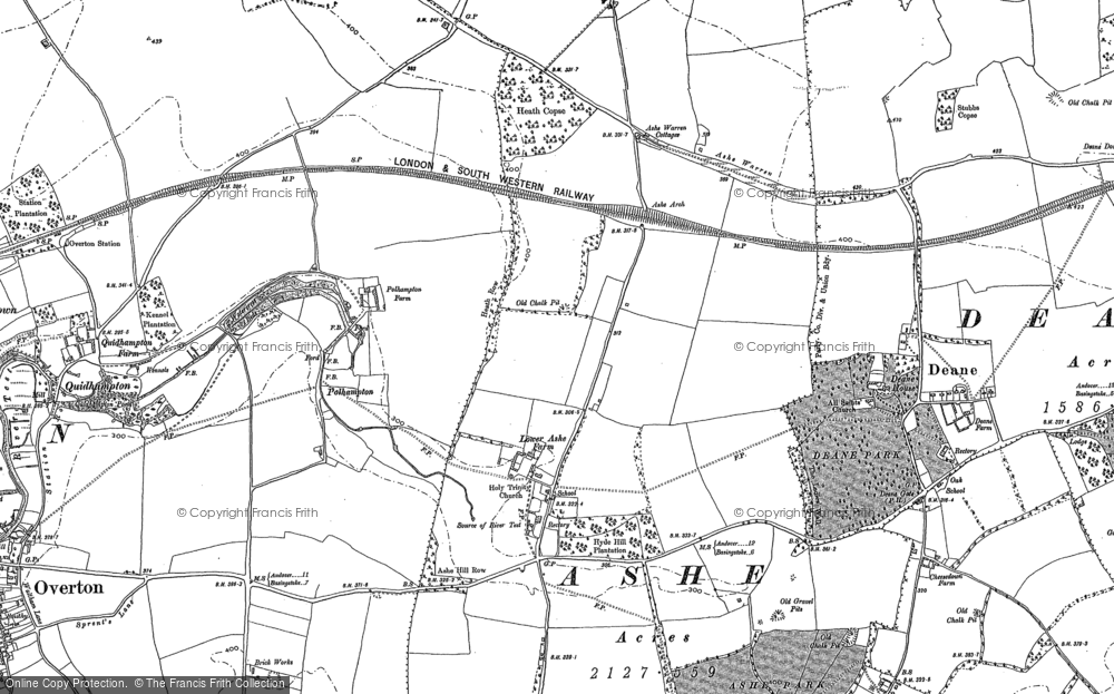 Old Map of Historic Map covering Ashe Warren Ho in 1894