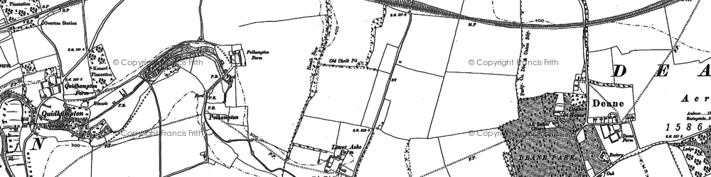Old map of Ashe Warren Ho in 1894