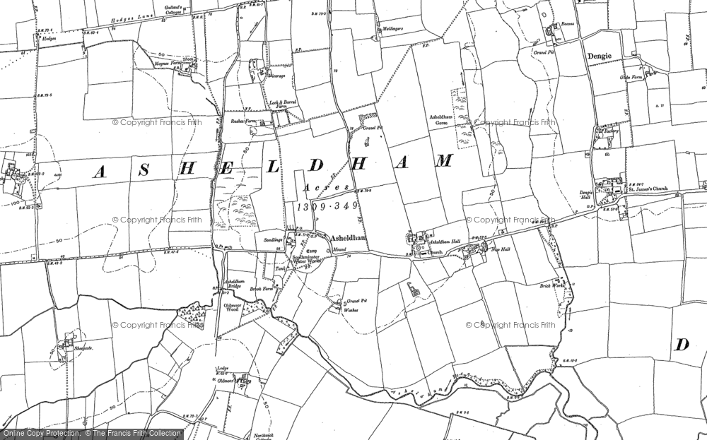 Old Map of Asheldham, 1895 in 1895