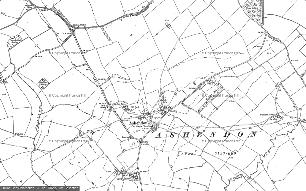 Old Map of Ashendon, 1898 in 1898