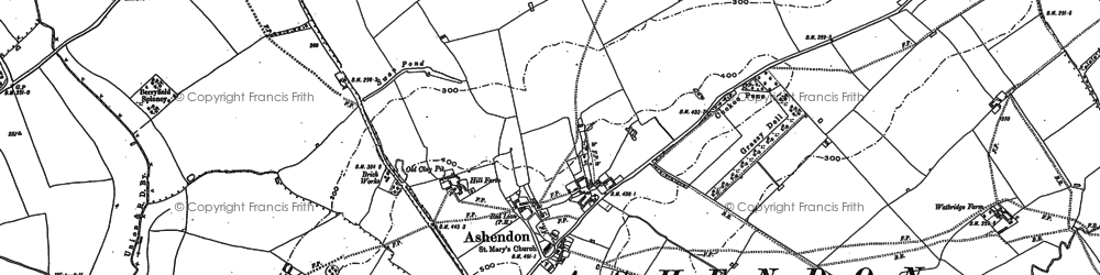 Old map of Upper Pollicott in 1898
