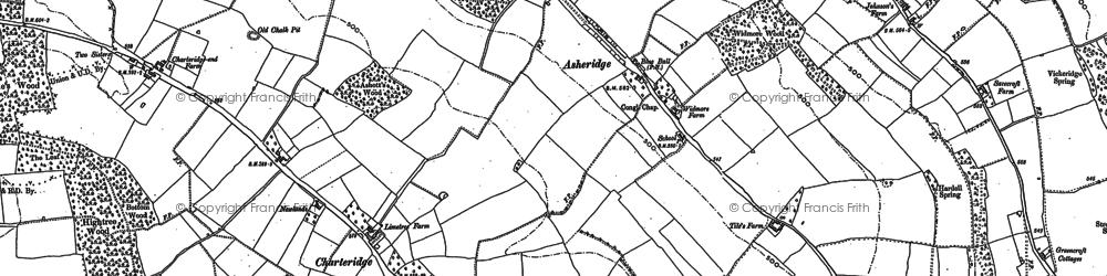 Old map of Asheridge in 1897