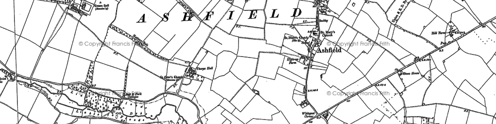 Old map of Ashfield Lodge in 1883