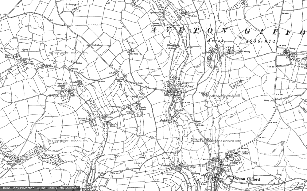 Map of Ashford, 1885 - 1905