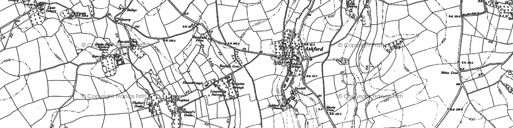 Old map of Ley in 1885