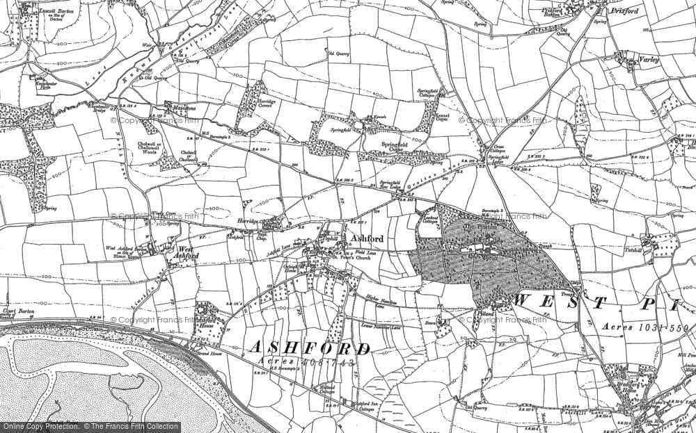 Old Map of Ashford, 1886 - 1903 in 1886