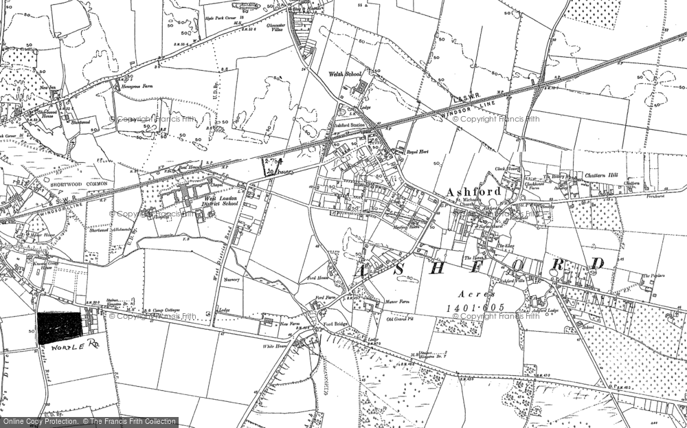 Old Map of Ashford, 1912 - 1913 in 1912