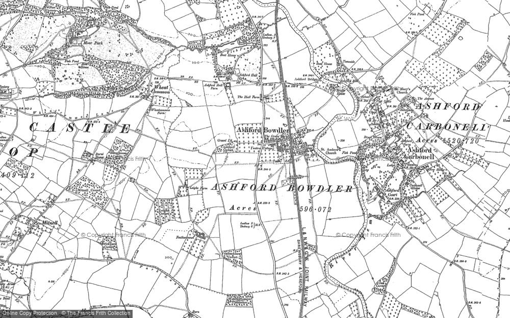 Old Map of Ashford Bowdler, 1884 - 1902 in 1884