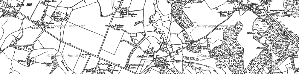 Old map of Ashford Hill in 1894