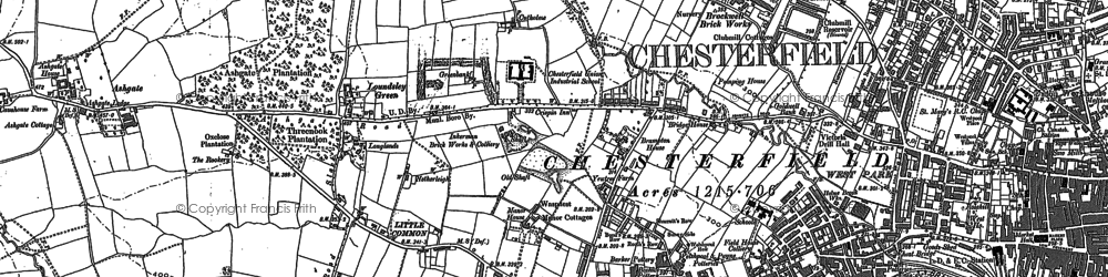 Old map of Ashgate in 1876