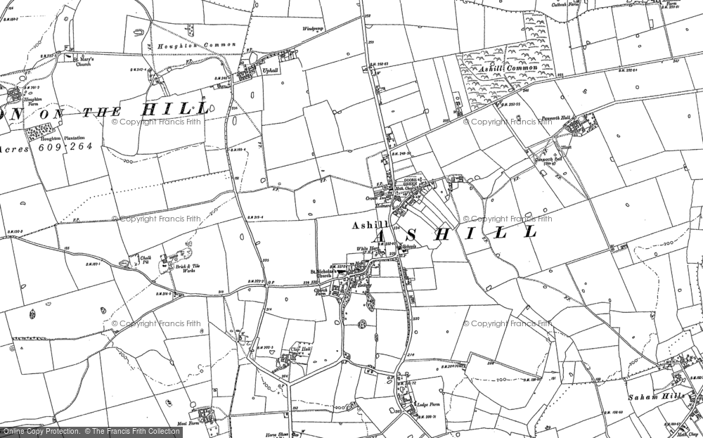 Old Map of Ashill, 1882 - 1883 in 1882