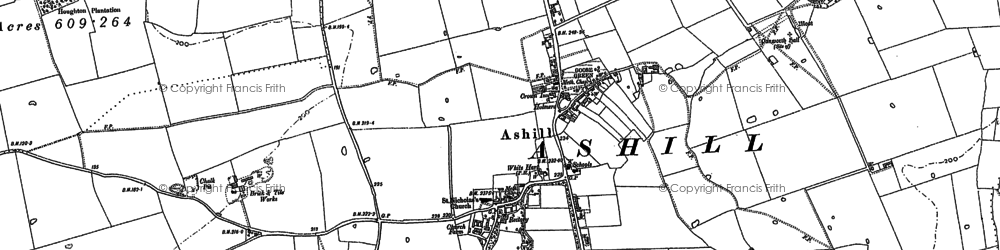 Old map of Ashill Common in 1882