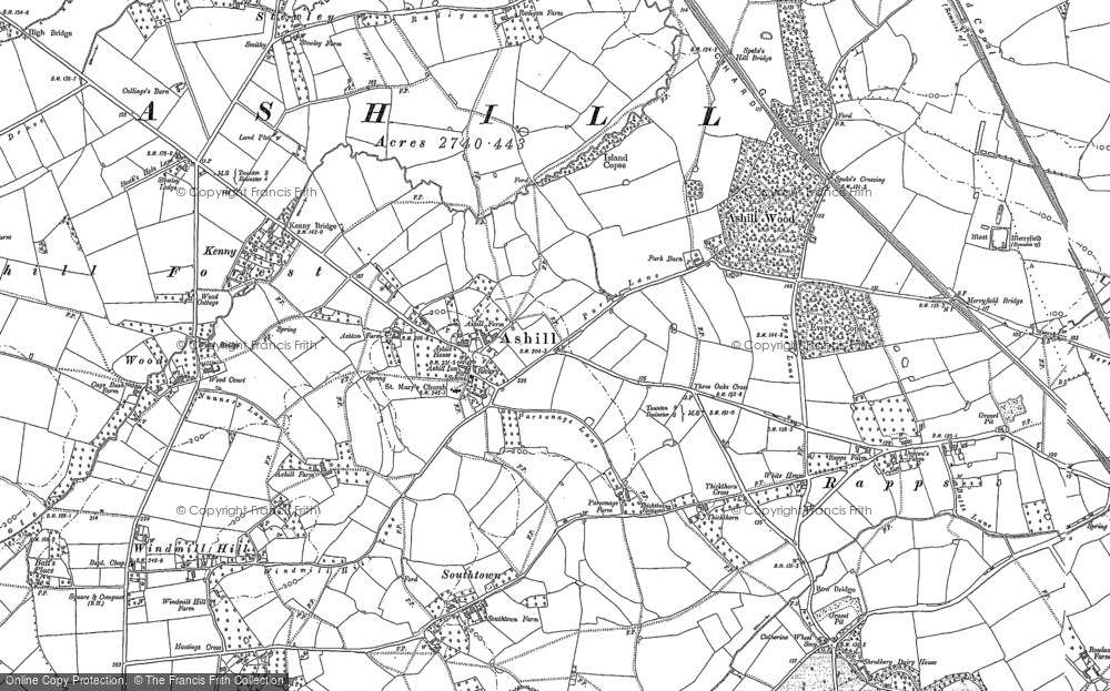 Old Map of Ashill, 1886 in 1886