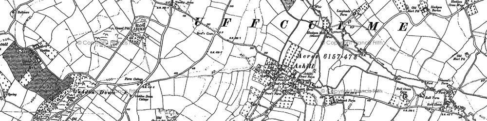 Old map of Ashill Moor in 1887