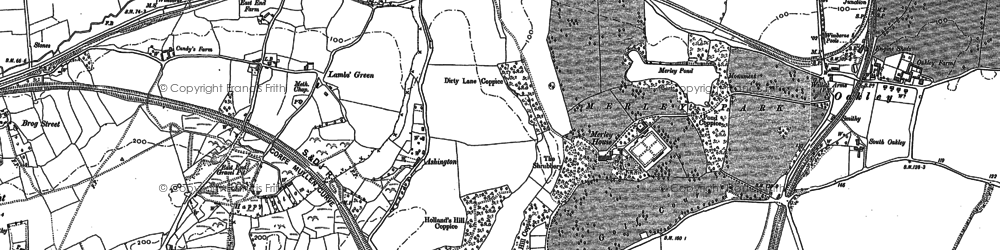 Old map of Ashington in 1887