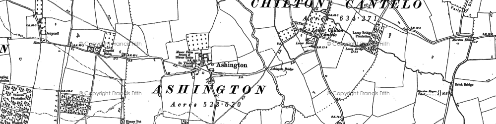 Old map of Ashington in 1901