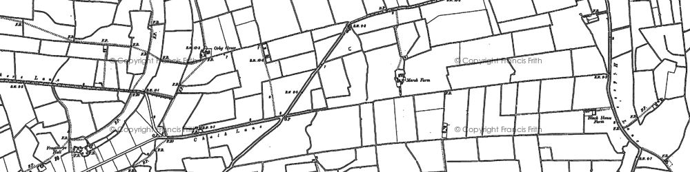 Old map of Ashington End in 1904