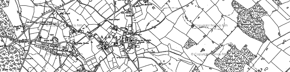 Old map of Ashley in 1879