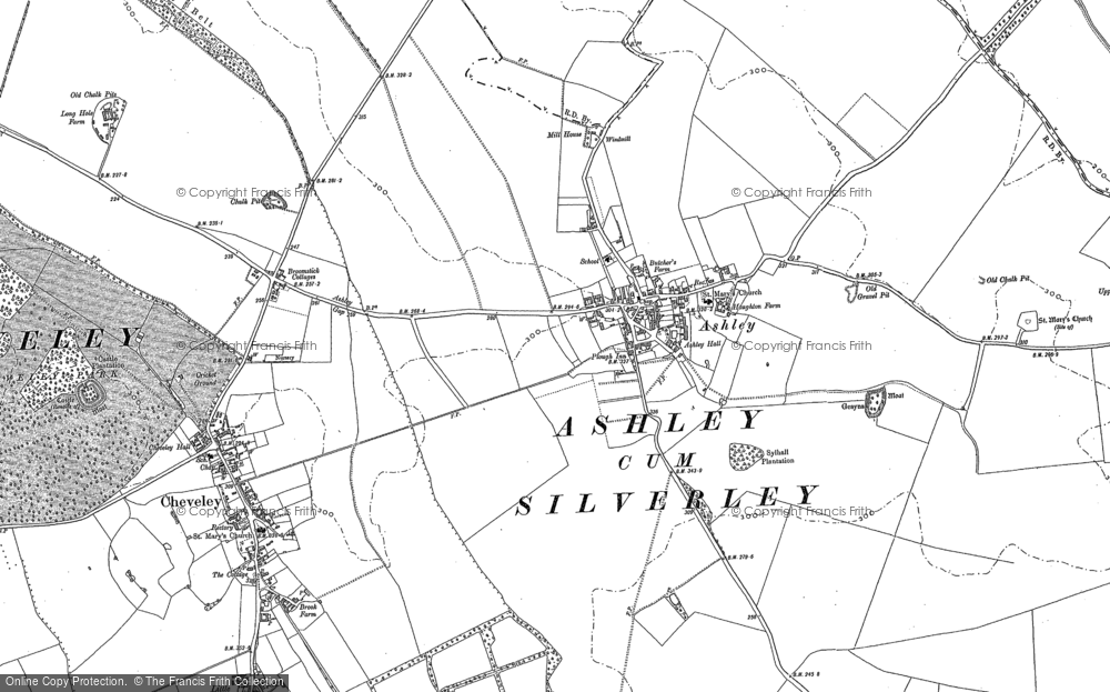 Old Map of Ashley, 1883 - 1884 in 1883