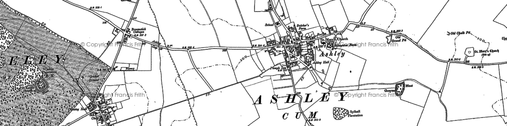 Old map of Ashley in 1883