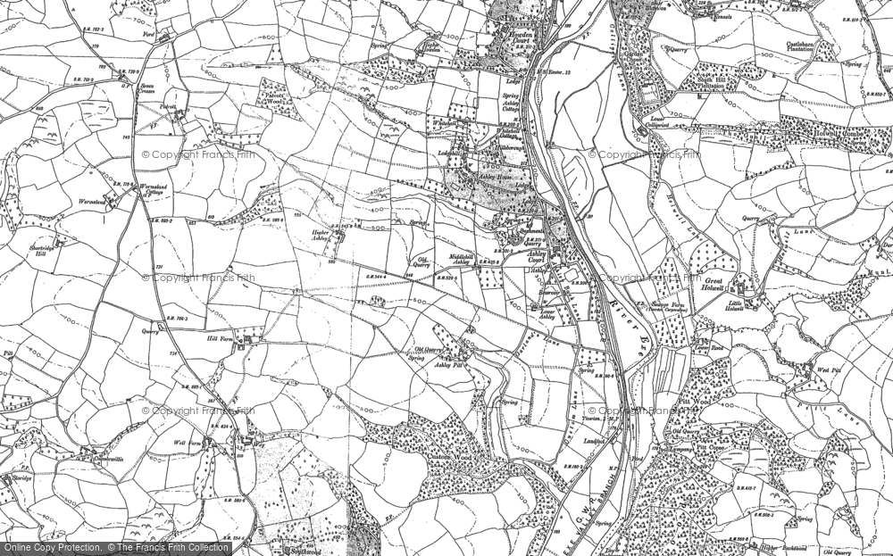 Old Map of Ashley, 1886 - 1887 in 1886