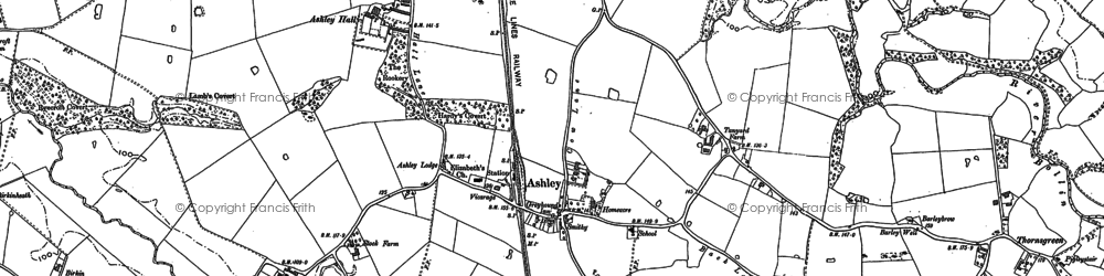 Old map of Yarwood Ho in 1897