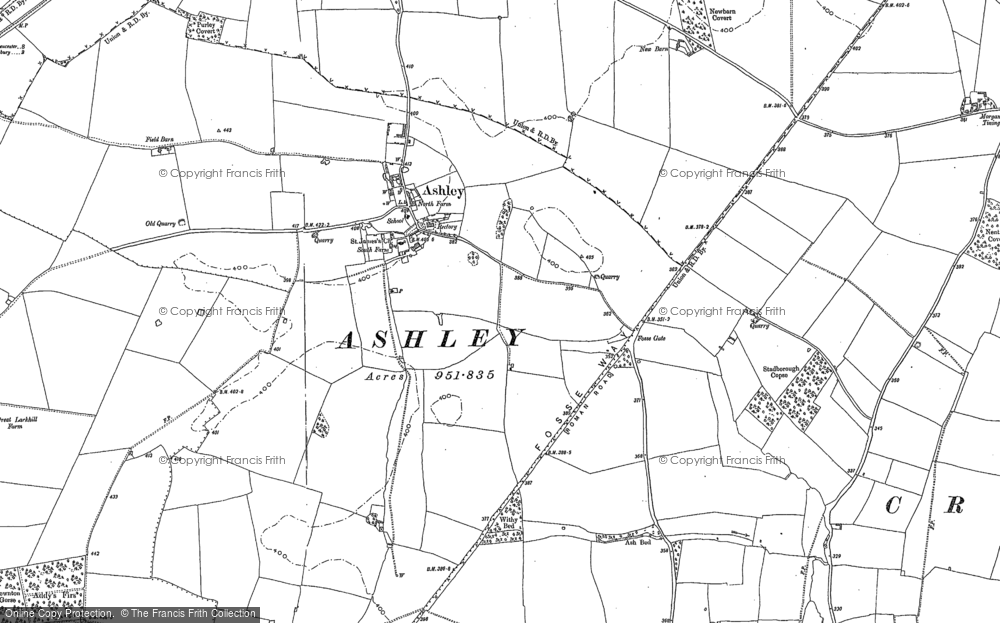 Old Map of Ashley, 1898 - 1901 in 1898
