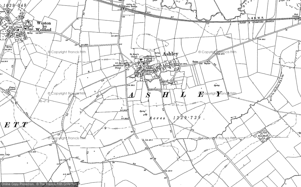 Old Map of Ashley, 1899 - 1902 in 1899