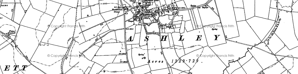 Old map of Ashley in 1899