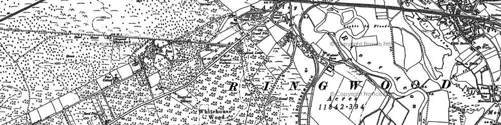 Old map of Baker's Hanging in 1908