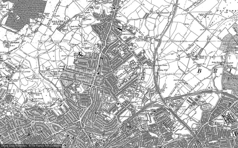 Old Map of Ashley Down, 1881 - 1902 in 1881