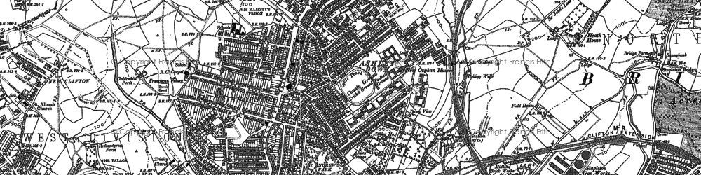 Old map of Ashley Down in 1881
