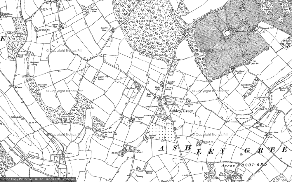 Old Map of Ashley Green, 1897 - 1923 in 1897