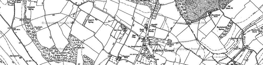 Old map of Ashley Green in 1897