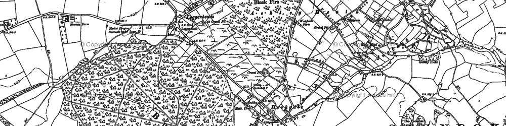 Old map of Ashley Heath in 1900