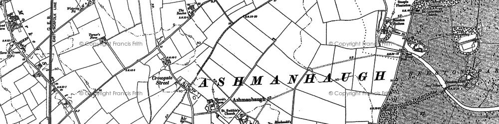 Old map of Ashmanhaugh in 1880