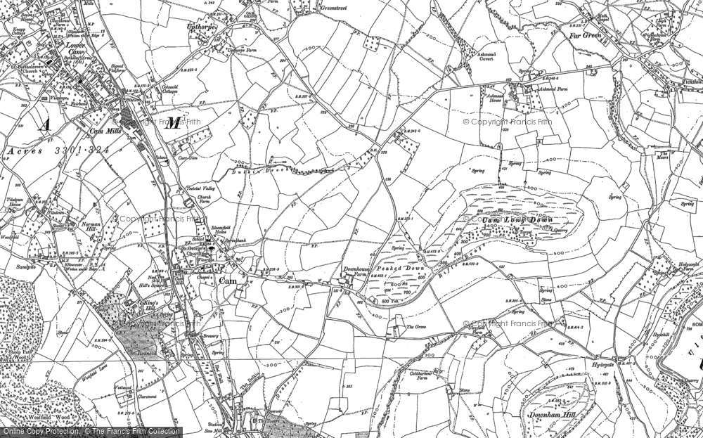 Old Map of Ashmead Green, 1882 in 1882