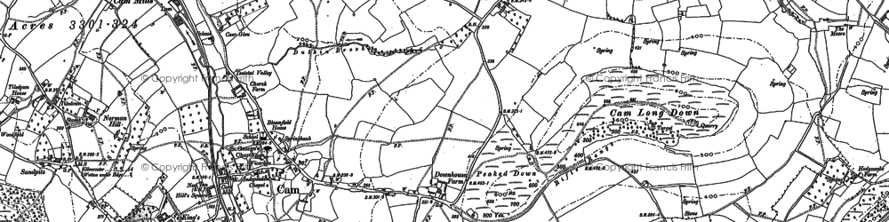 Old map of Ashmead Green in 1882