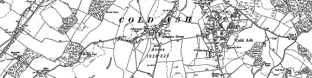 Old map of Ashmore Green in 1898