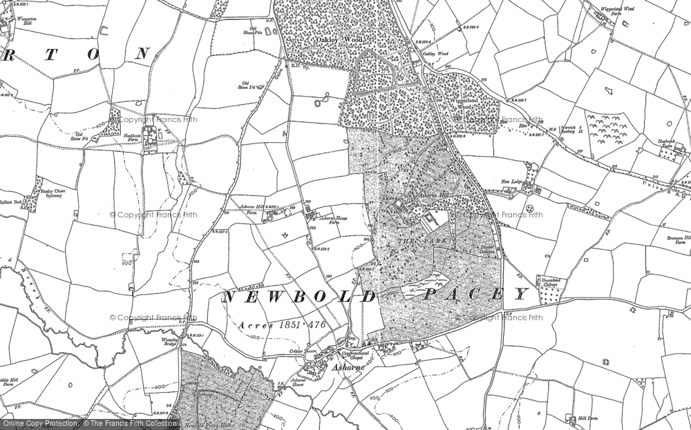 Old Map of Ashorne Hill, 1885 in 1885