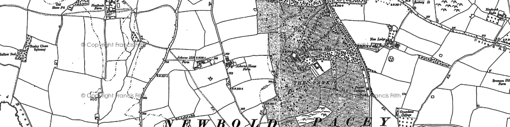 Old map of Ashorne Hill College in 1885