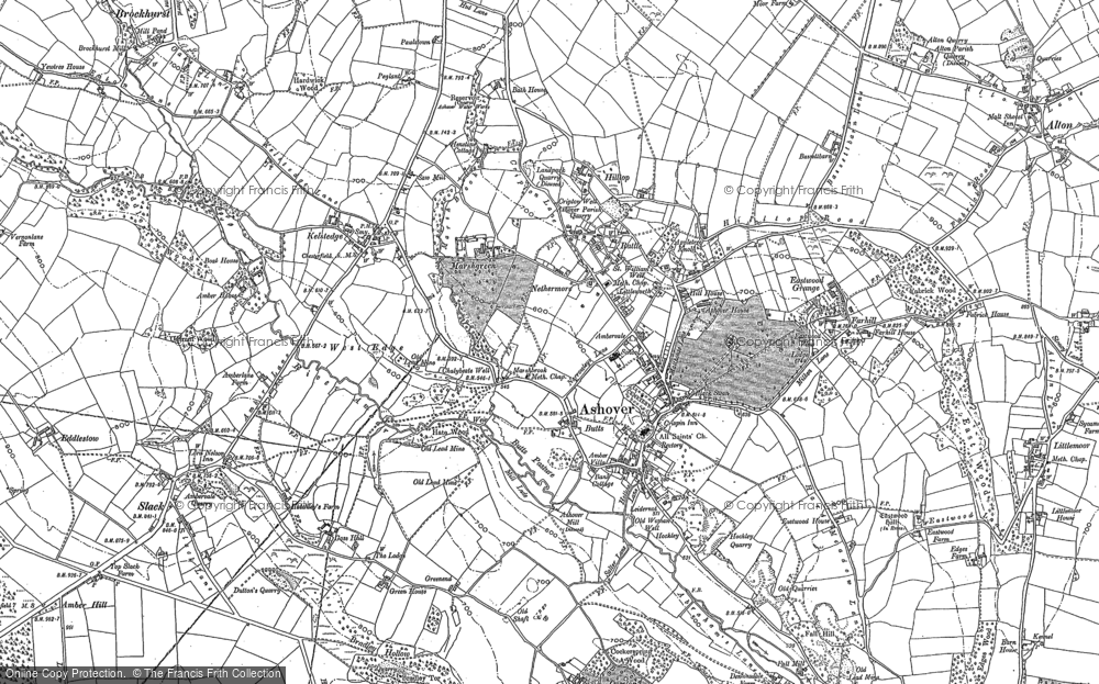 Old Map of Ashover, 1879 in 1879