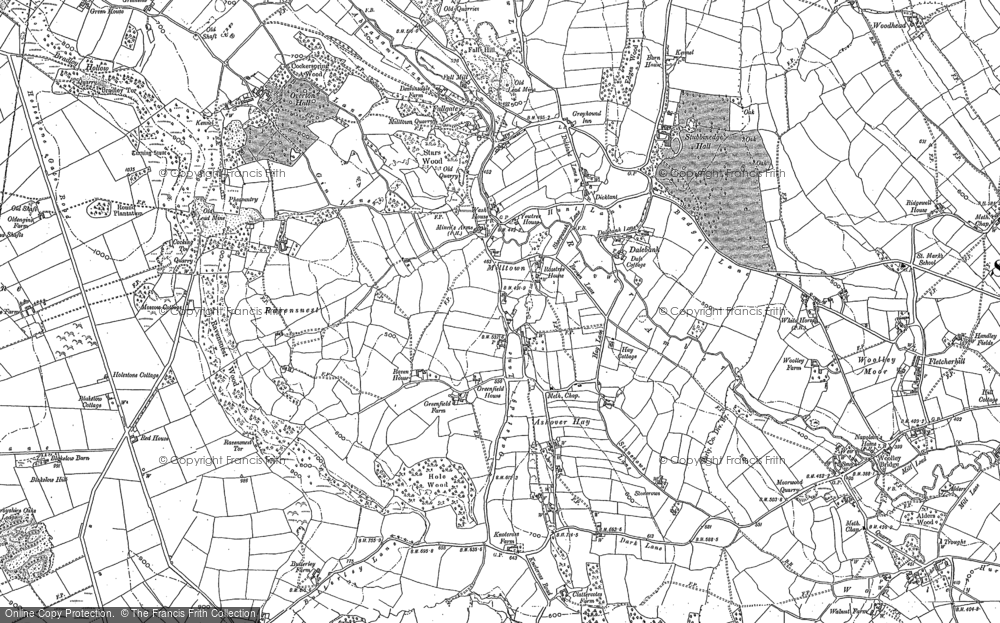 Old Map of Ashover Hay, 1878 - 1879 in 1878